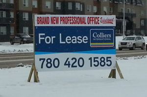 Edmonton For Lease Signs