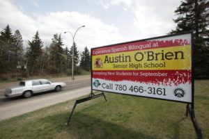 Edmonton Portable Shool Signs